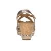 Kožené zlaté sandály na platformě gabor, zlatá, 766-8043 - 16