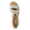 Kožené sandály šíře G gabor, béžová, 666-8347 - 17