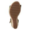 Khaki kožené sandály na klínku šíře G gabor, khaki, 763-7004 - 17