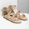 Dívčí sandály s perličkami bullboxer, béžová, 361-8609 - 26