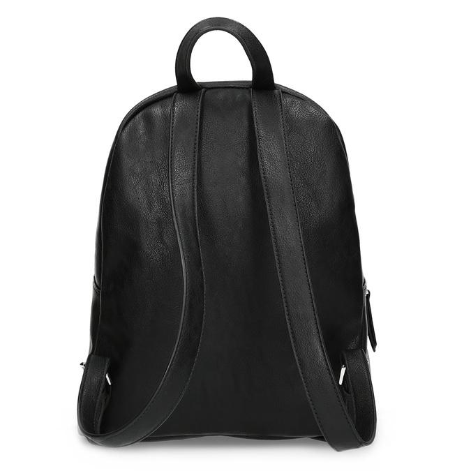 Černý dámský batoh s kamínky bata, černá, 961-6855 - 16