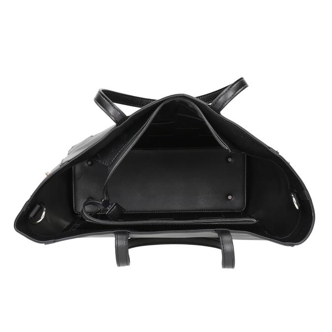 Černá kabelka s proplétáním bata, černá, 961-6236 - 15