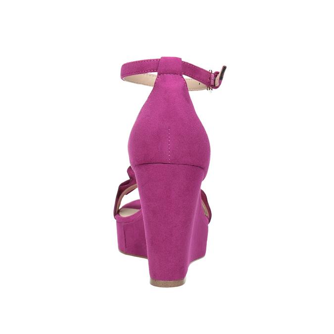 Sandály na klínku s volánem insolia, růžová, 769-5618 - 15