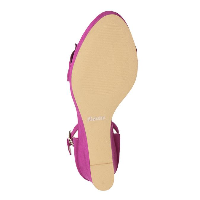Sandály na klínku s volánem insolia, růžová, 769-5618 - 18