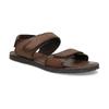 Pánské kožené hnědé Ombré sandály bata, hnědá, 866-4633 - 13