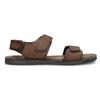 Pánské kožené hnědé Ombré sandály bata, hnědá, 866-4633 - 19