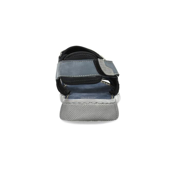 Modré kožené pánské sandály na suchý zip bata, modrá, 866-9640 - 15