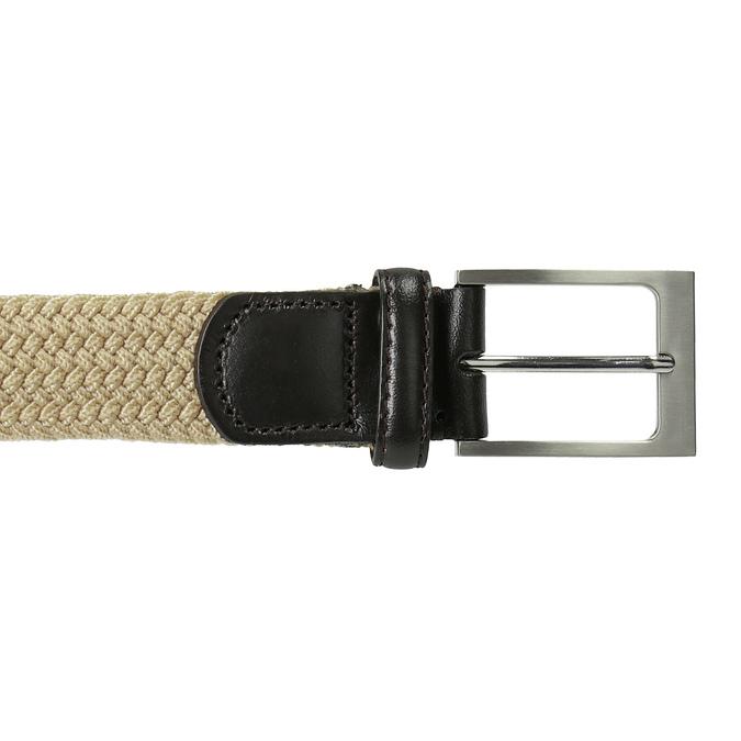 Pružný pánský opasek béžový bata, béžová, 959-8217 - 26