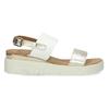 Dámské sandály se zlatými pásky na flatformě bata, bílá, 661-1614 - 19