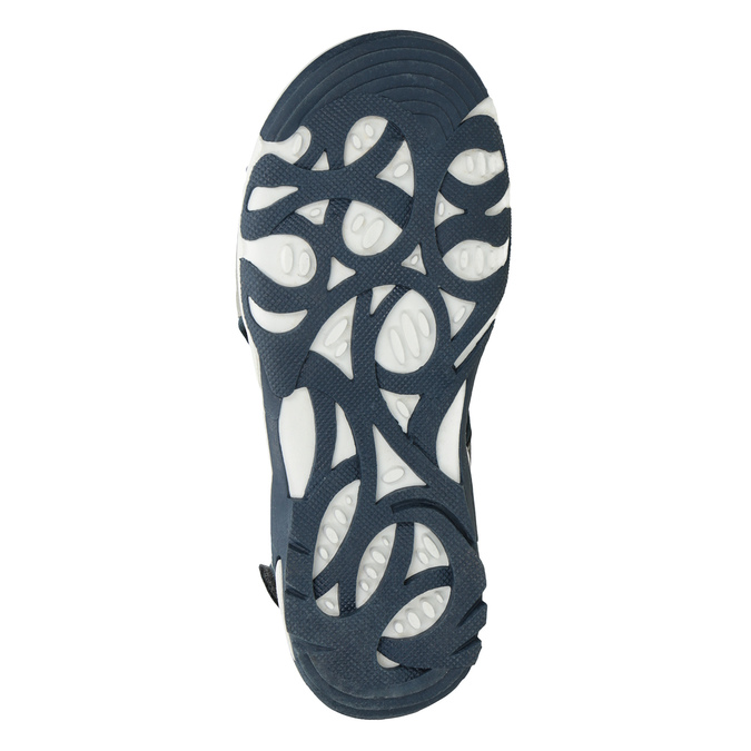 Chlapecké sandály na suchý zip modré mini-b, modrá, 261-9608 - 19