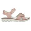 Dívčí kožené sandály s kamínky růžové mini-b, růžová, 463-5603 - 16