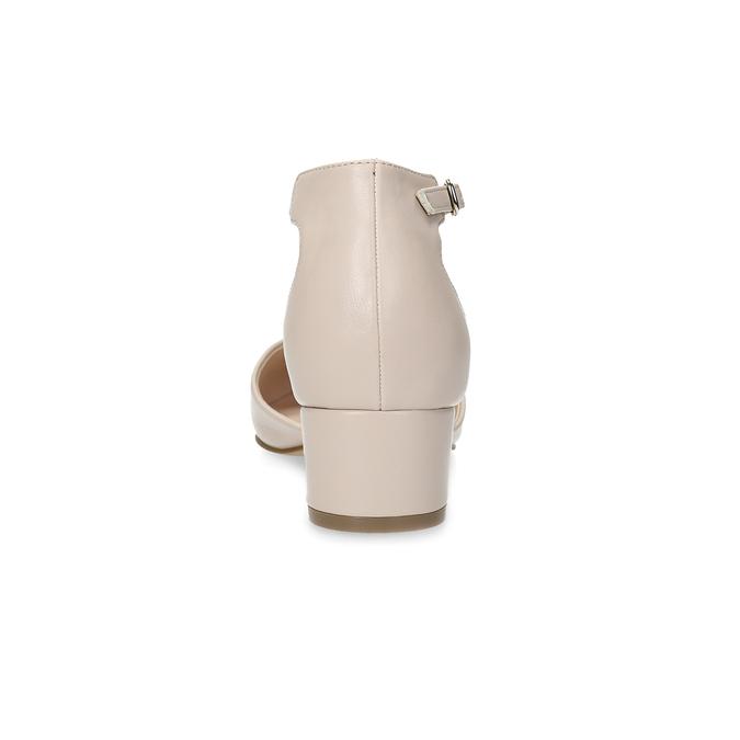 Tělové lodičky na nízkém podpatku bata-red-label, béžová, 621-5607 - 15