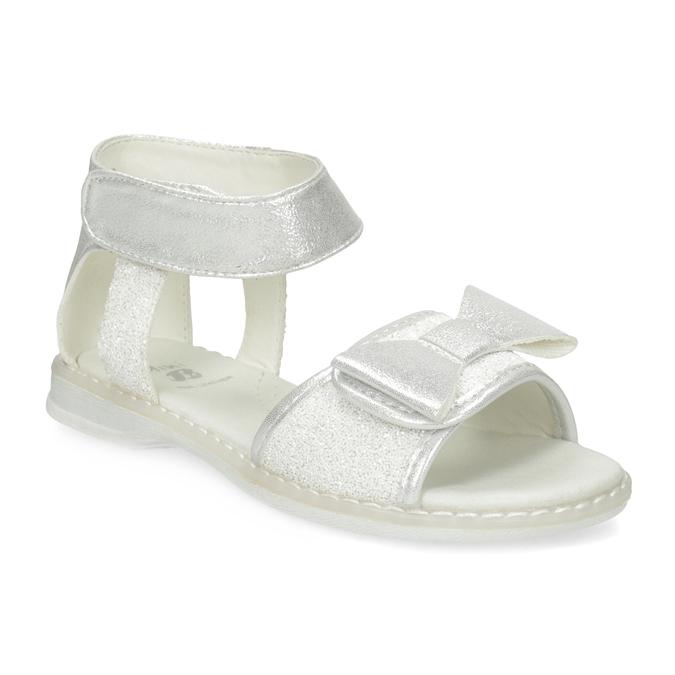 Dívčí stříbrné sandály s mašlí mini-b, stříbrná, 261-1117 - 13