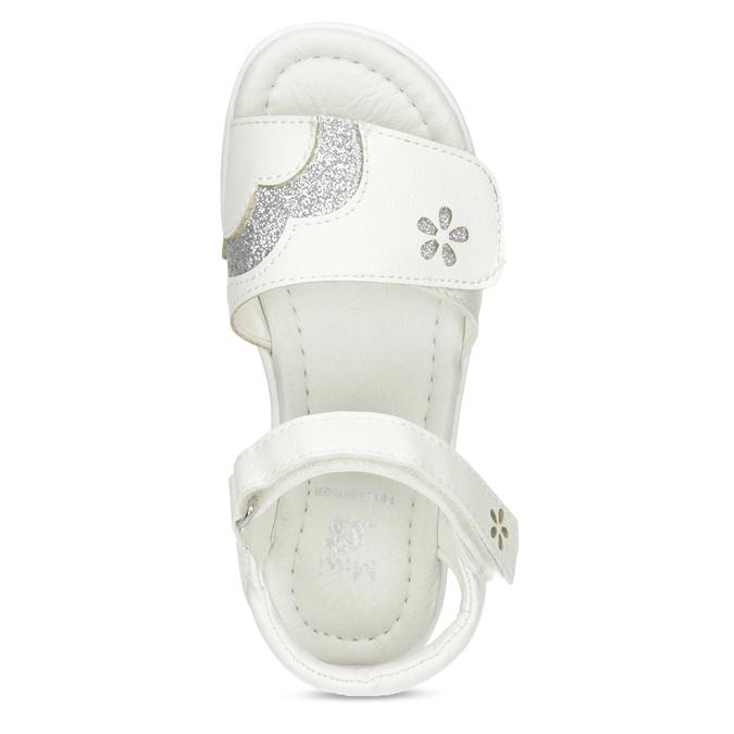 Bílé dívčí sandály se třpytkami mini-b, bílá, 261-1144 - 17