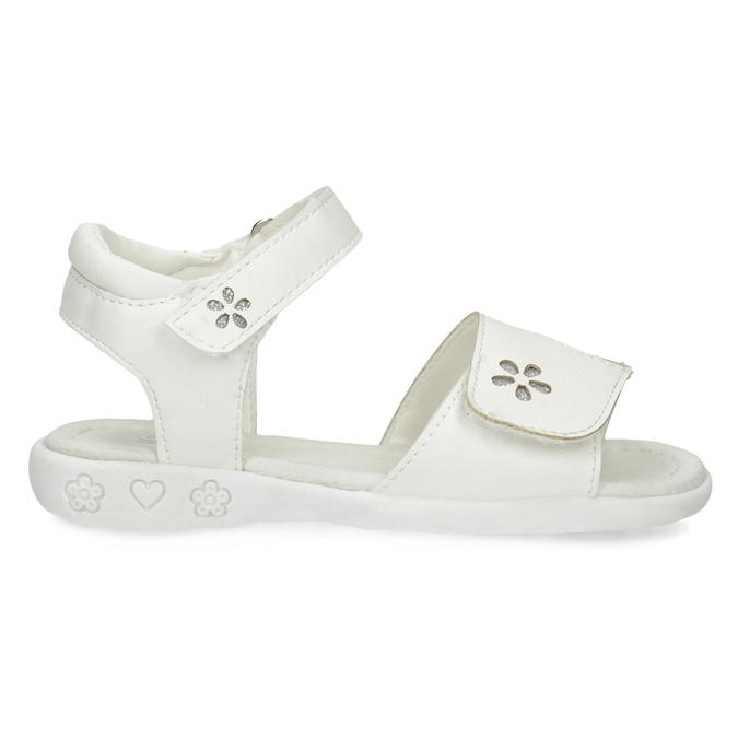 Bílé dívčí sandály se třpytkami mini-b, bílá, 261-1144 - 19