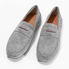 Pánské mokasíny z broušené kůže bata, šedá, 853-2614 - 16