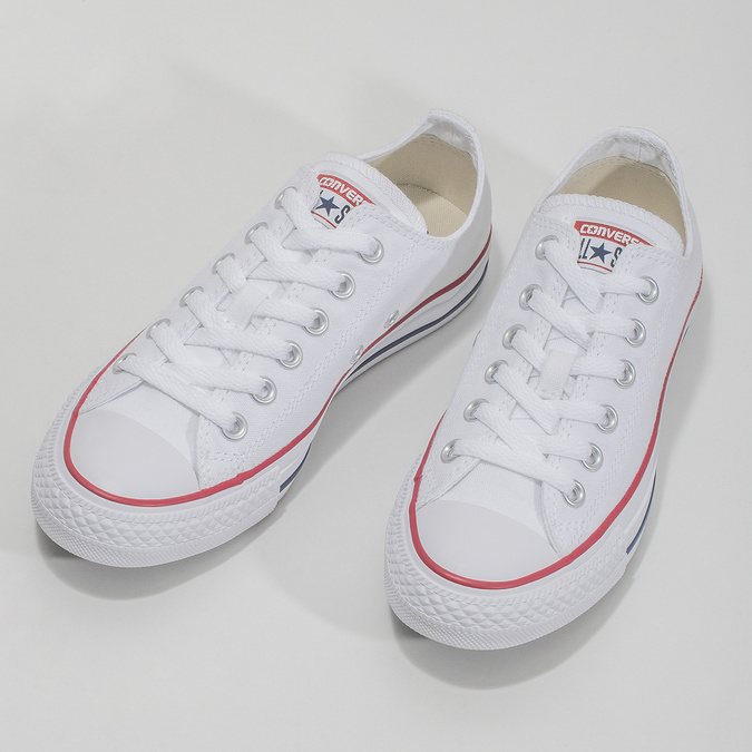 Dámské bílé tenisky s gumovou špičkou converse, bílá, 589-1279 - 16