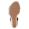 Tmavě modré kožené sandály na klínovém podpatku gabor, modrá, 763-9013 - 17