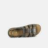 Černo-hnědé pánské kožené sandály bata, hnědá, 866-4610 - 16