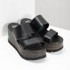 Kožené nazouváky na flatformě bata, černá, 766-6613 - 26