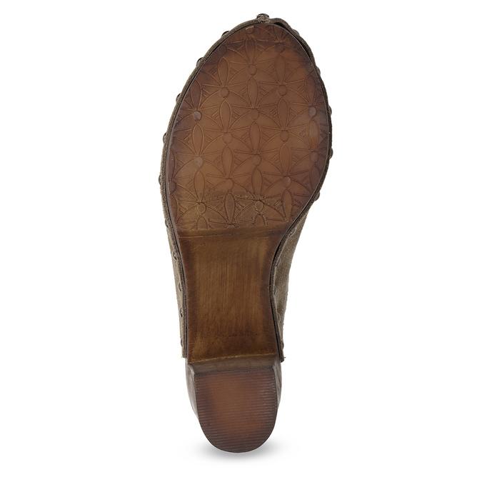 Dřeváky na stabilním podpatku bata, hnědá, 763-3605 - 18