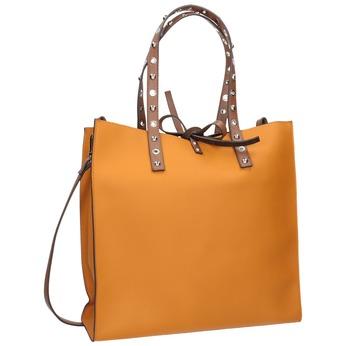 Oranžová shopper bag kabelka se cvočky bata, hnědá, 961-3296 - 13