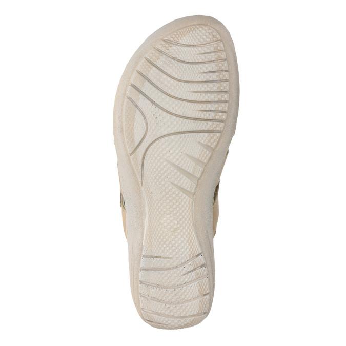 Dámské kožené sandály se suchými zipy béžové comfit, béžová, 566-8634 - 19
