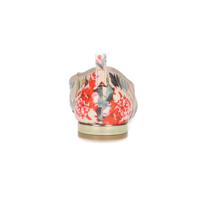 Dámské baleríny s květinovým vzorem bata-red-label, růžová, 521-5613 - 15