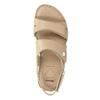 Dámské kožené sandály se suchými zipy béžové comfit, béžová, 566-8634 - 17
