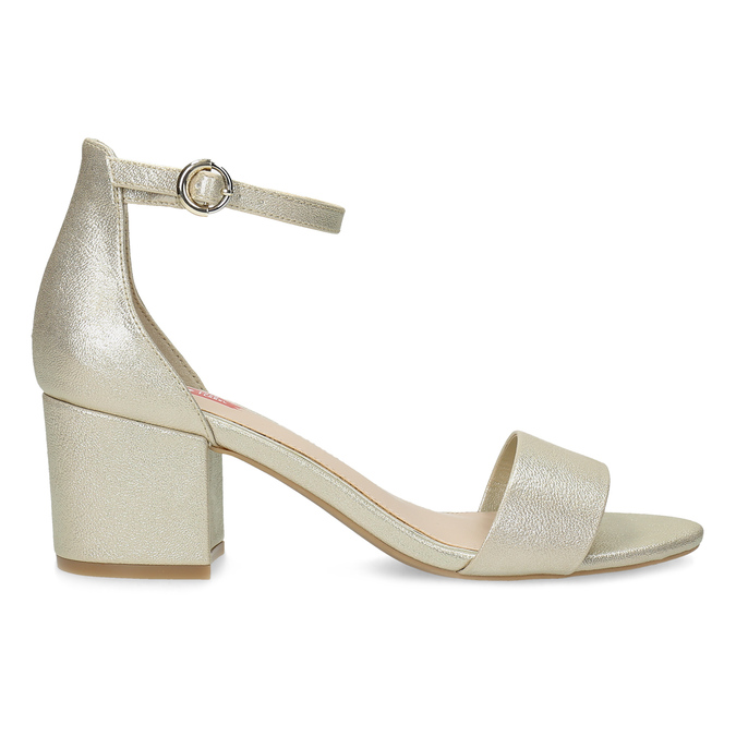 Zlaté dámské sandály na podpatku bata-red-label, zlatá, 661-8609 - 19
