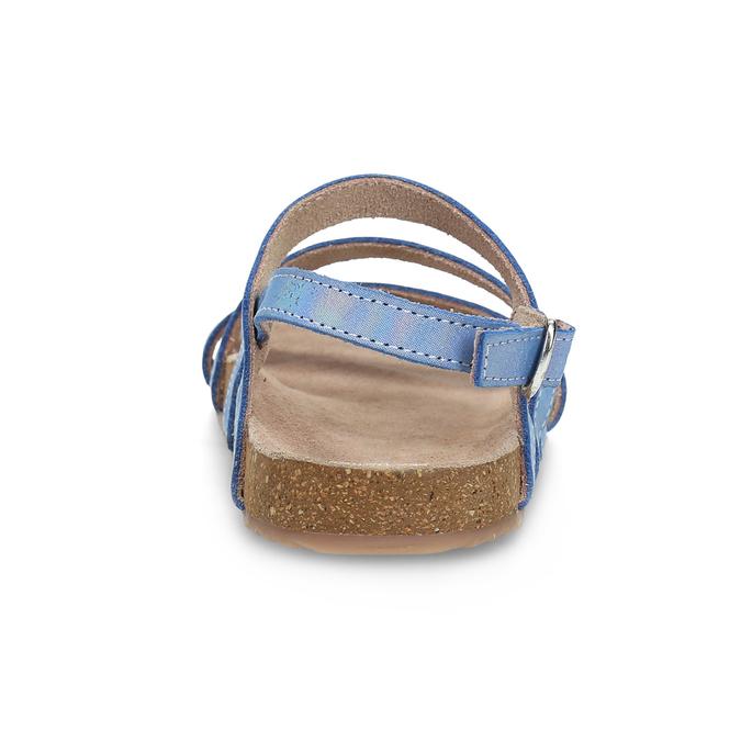 Dívčí sandály s holografickými pásky mini-b, modrá, 466-1609 - 15