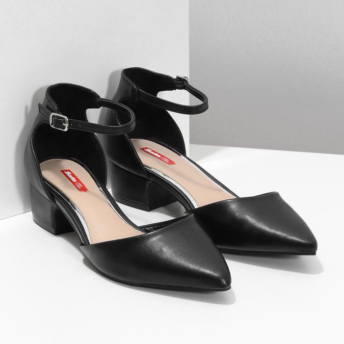 Lodičky na nízkém podpatku černé bata-red-label, černá, 621-6607 - 26