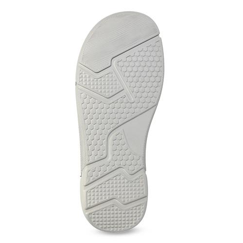 Kožené pánské sandály černo-modré weinbrenner, šedá, 866-4643 - 18