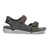 Kožené pánské sandály černo-modré weinbrenner, šedá, 866-4643 - 19
