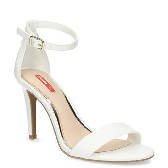 Sandály na jehlovém podpatku bílé bata-red-label, bílá, 661-1610 - 13