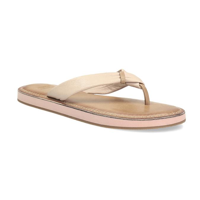 Dámské kožené žabky béžové bata, béžová, 566-2645 - 13