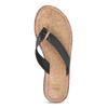 Černé kožené dámské žabky bata, černá, 566-6645 - 17