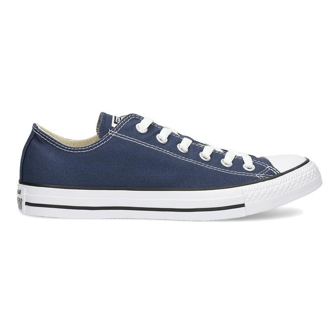 Dámské textilní tenisky s gumovou špičkou converse, modrá, 589-9279 - 19