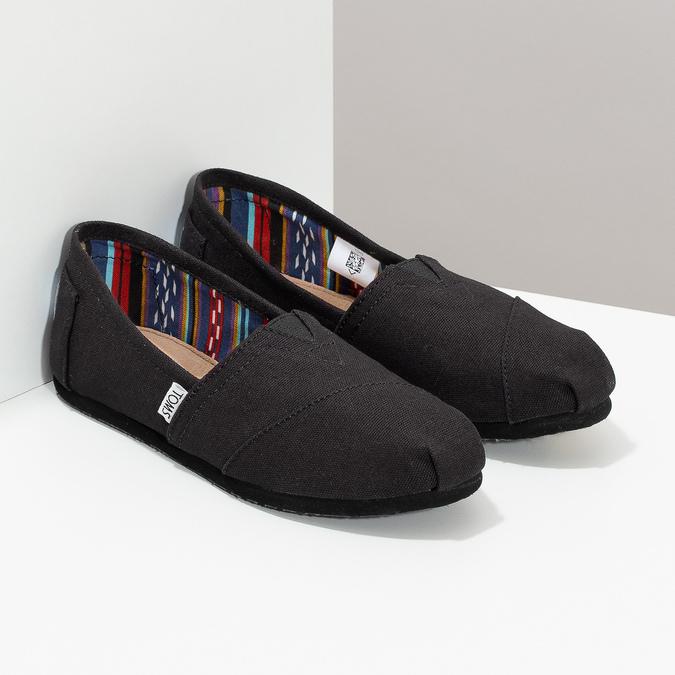 Dámské Slip on toms, černá, 519-6004 - 26