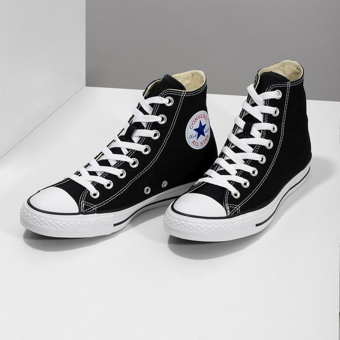 Pánské černo-bílé tenisky s gumovou špicí converse, černá, 889-6278 - 16