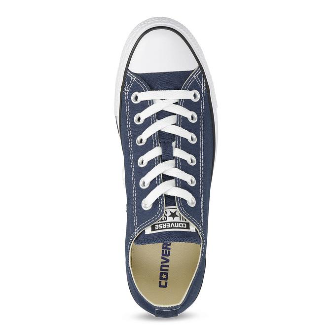 Dámské textilní tenisky s gumovou špičkou converse, modrá, 589-9279 - 17