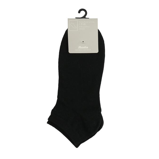 Pánské černé kotníkové ponožky bata, černá, 919-6802 - 13