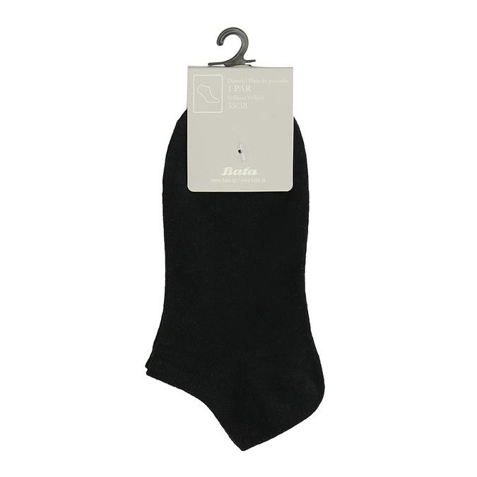 Dámské kotníkové ponožky černé bata, černá, 919-6813 - 13