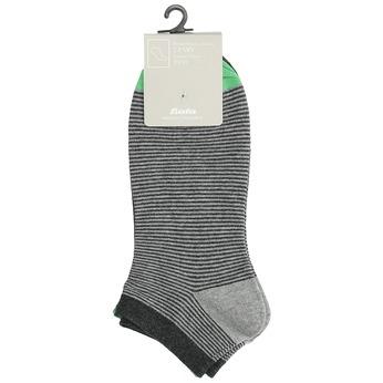 Pruhované kotníkové ponožky pánské bata, šedá, 919-2804 - 13
