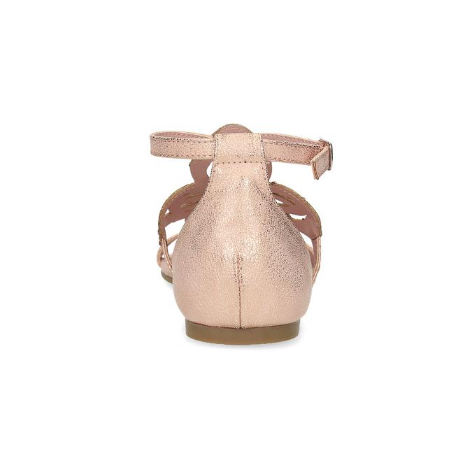 Starorůžové dámské sandály s kamínky bata, růžová, 561-5614 - 15