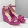 Sandály na klínku s volánem insolia, růžová, 769-5618 - 26