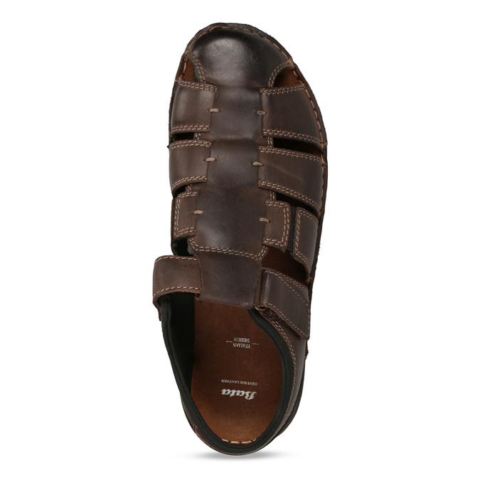 Kožené sandály se zavřenou špičkou bata, hnědá, 866-4616 - 17