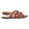 Pánské kožené sandály hnědé bata, hnědá, 866-3602 - 16