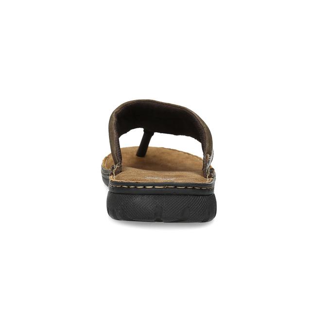 Pánské hnědé kožené žabky bata, hnědá, 866-4614 - 15