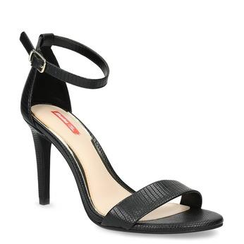 Černé sandály na jehlovém podpatku bata-red-label, černá, 661-6610 - 13
